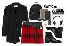 """""""Back to School: New Backpack"""" by juhh ❤ liked on Polyvore featuring Maison Margiela, Yves Saint Laurent, Balenciaga, Dsquared2, Undercover, Shinola and Master & Dynamic"""