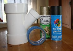 Once Upon a Family: PVC Pipe Hairdryer Holder