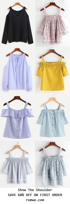 Summer Chic - Off the Shoulder Tops Collection - romwe.com