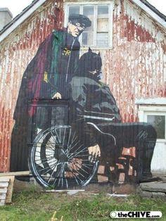 Decrepit Batman and Robin Street Art