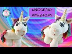 Cómo tejer Unicornio Amigurumi / 3 Tutoriales   Crochet y Dos agujas - Patrones de tejido Diy Paso A Paso, Little Pony, Free Crochet, Dinosaur Stuffed Animal, Christmas Ornaments, Toys, Holiday Decor, Animals, Relax
