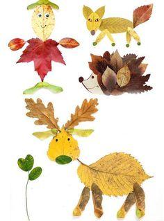 lavoretti con le foglie (work with leaves) - Ani Ka - #Ani #con #foglie #KA #lavoretti #le #leaves #Work