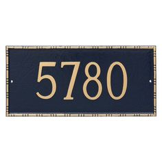 Montague Metal Lincoln Rectangle Address Sign Wall Plaque