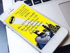 Convite Digital Batman - Whatsapp   Texto Livre  ----------------------------------------------------  ATENÇÃO:  ----------------------------------------------------   Este produto não é um material impresso. O formato do produto é digital, ou seja, você recebe a arte por e-mail e imprime como qu...
