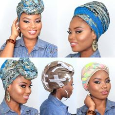 6 QUICK AND EASY HEADWRAP/TURBAN STYLE [SHORT NATURAL HAIR AND TWA FRIEN...
