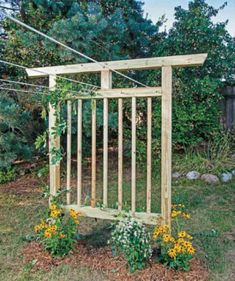 How to Build a Clothesline Trellis