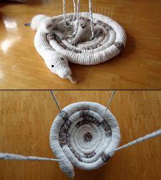 Schlangen Schaukel für Katzen häkeln | Snake Swing for Cats