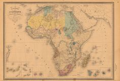 Africa Map by Eugène Andriveau-Goujon (1880)