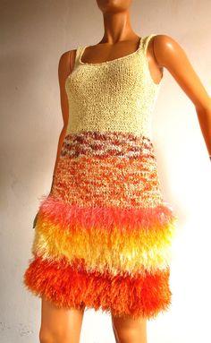 robe sorbet fourrure