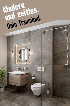 In diesem Traumbad kann man nicht anders als entspannen. Hier geht's zum Wallis-Duschbad. Wallis, Modern, Toilet, Bathroom, Toilets, Porcelain Tiles, Guest Toilet, Flooring Tiles, Remodels