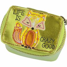 Natural Life Lime Fox Metallic Mini Jewelry Case #forthenaturalista #giftguide #ultabeauty Jewelry Case, Cute Jewelry, Mini Makeup Bag, Makeup Bags, Purse Wallet, Coin Purse, Grad Gifts, Natural Life, Pretty And Cute