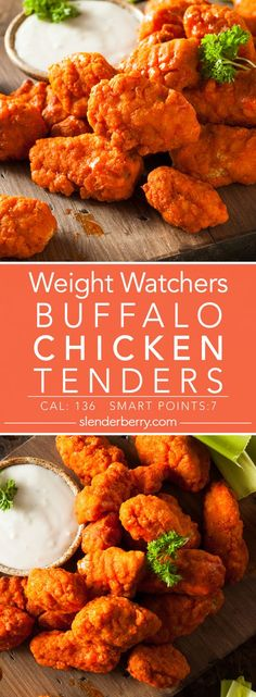 Buffalo Chicken Tenders Weight Watchers Buffalo Chicken Tenders Recipe - 7 Smart Points 136 Calories Source by . Weight Watcher Dinners, Weight Watchers Snacks, Poulet Weight Watchers, Plats Weight Watchers, Weight Watchers Chicken, Weight Watchers Smart Points, Air Fryer Recipes Weight Watchers, No Calorie Foods, Low Calorie Recipes