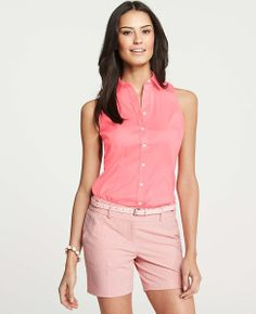 Ann Taylor - AT Blouses Tops - Perfect Stretch Cotton Sleeveless Shirt