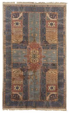 VAN-HAM Kunstauktionen Garden Carpet Sivas, Turkey.  1st half of 20th century. 446 x 268 cm.
