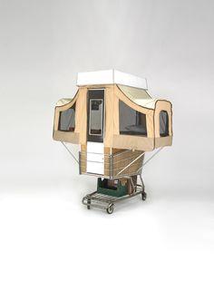 Camper Kart, la micro-casa dal riciclo del carrello della spesa  QUI altre idee  http://www.greenme.it/consumare/riciclo-e-riuso/6949-riciclo-carrelli-della-spesa