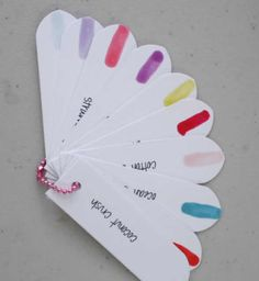 Cute way to choose a nail colour xx I would choose more Christmassy colours though xx