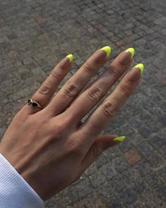 Neon Nails Are the Fun, Fluorescent Way to Brighten Up Your DayYou can find Neon nails and more on our website.Neon Nails Are the Fun, Fluorescent Way to Brighten Up You. Cute Acrylic Nails, Neon Nails, Cute Nails, My Nails, Neon Nail Art, Pretty Nails, Bright Nails, Pink Nails, Yellow Nails Design