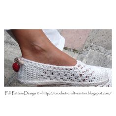 White Lace Espadrilles -Toms - How To Turn Crochet Slippers Into Street Shoes - Crochet Pattern. €5.00, via Etsy.