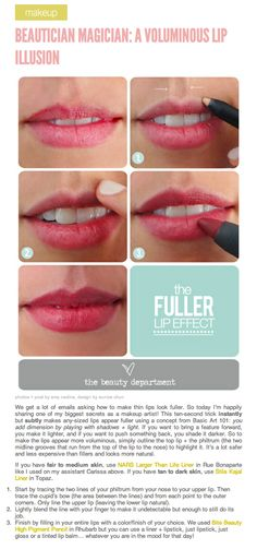 Fuller Lips Trick. I'll thank myself for pinning this