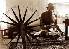 GANDHI on KHADI and WEAVING:  The 'khadi spirit' means fellow-feeling with every human being on earth. It means a complete renunciation of everything that is likely to harm our fellow creatures, and if we but cultivate that spirit amongst the millions of our countrymen, what a land this India of ours would be! And the more I move about the country and the more I see the things for myself, the richer, the stronger is my faith growing in the capacity of the spinning wheel.