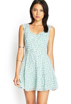 Floral Chiffon Cutout Dress | Forever 21 | CAD $27.80