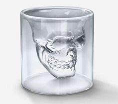 Down Liquor in Rebel Style with the Doomed Crystal Skull Shot Glass #skull #decor trendhunter.com