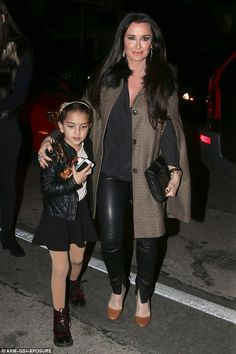 Party time: Kyle Richards and daughter Portia Umansky arrived at Craig's restaurant in Wes...