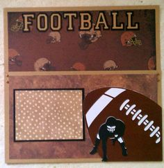 Football pocket page 12x12 premade scrapbook by ohioscrapper, $15.00