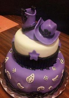 Purple Cowgirl birthday cake.