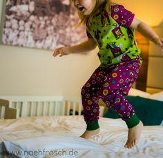 Nähfrosch Schlafanzug nähen für Kinder Phantasy Pferde Panel Jersey  von InDIYKiste Urlaub mit Kindern  Nürnberg Hotel Bomonti