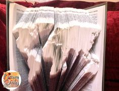 World Map Folded Book Art Pattern