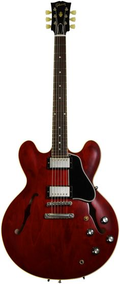Semi-hollowbody Electric Guitar with Maple Body and Top, Mahogany Neck, Rosewood Fingerboard, Two Humbucking Pickups, and Hard Case - Vintage Cherry