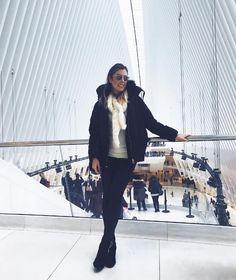 Meu look em NY, casaco de frio, pele fake, tricot, skinny e bota