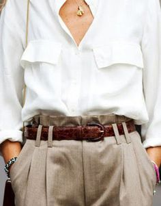 White, taupe simple chic