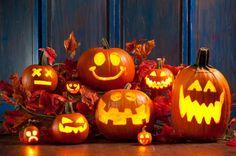 déco halloween pas cher extérieure citrouilles qui rient