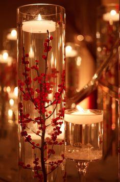 Non Floral Centerpieces, Floating Candle Centerpieces, Wedding Flower Arrangements, Wedding Table Centerpieces, Christmas Centerpieces, Floral Arrangements, Centerpiece Flowers, Centerpiece Ideas, Fall Decorations