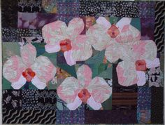 QUILTED FABRIC - Moth Orchids