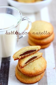 Sablés with Nutella