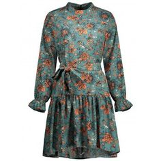2018 Long Sleeve Floral Plus Size Dress PATINA GREEN XL In Plus Size Dresses Online Store. Best Bohemian Summer Dress For Sale   DressLily.com