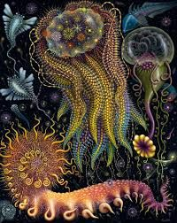 *Rediscover the Wonders of Nature* [Limited Edition Existence] Natural Wonders, Trippy, Daydream, Moonlight, Giclee Print, Museum, Ink, Artist, Painting