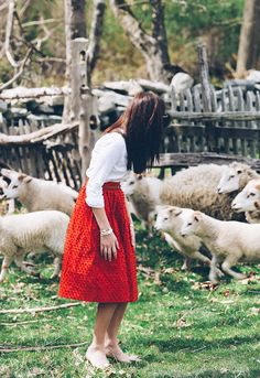 When all you want is the sheep to come on over but they just won't have it. Prep Style, My Style, Modest Fashion, Girl Fashion, Kate Spade Glasses, Sarah Vickers, New England Style, Classy Girl, French Chic