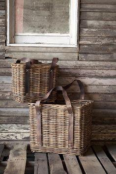 Bakery Baskets - Set of 2 - Wicker Baskets - Wicker Basket Storage - Wicker Storage Baskets - Wicker Baskets With Handles | HomeDecorators.com