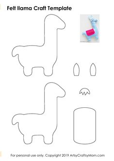 Then this Felt Llama Craft is perfect for you! Turn it into a keychain, bag charm, a plushie or anything at all - this is a no drama llama! Felt Animal Patterns, Felt Crafts Patterns, Fabric Crafts, Baby Sewing Projects, Sewing For Kids, Sewing Crafts, Felt Projects, Fun Arts And Crafts, Diy Crafts For Gifts