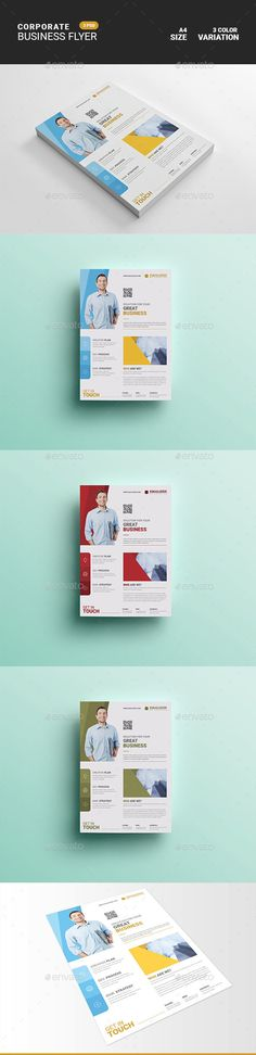 #Corporate Business Flyer Free Flyer Templates, Business Flyer Templates, Corporate Flyer, Corporate Business, Flyer Size, Flyer Design, Newspaper, A4, Promotion