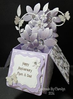 ANNIVERSARY POP-UP CARD by: carolynshellard