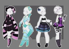Gacha outfits 19 by kawaii-antagonist.deviantart.com on @DeviantArt