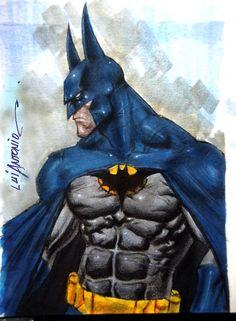 Batman artwork by Luis Antonio (2011)