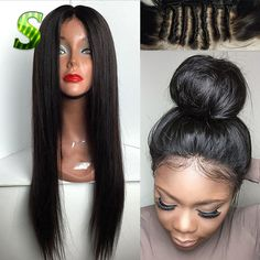 7A Grade Malaysian Virgin Hair Straight Lace Front wig Glueless Full Lace Human Hair Wigs For Black Women,Long Human Hair Wigs