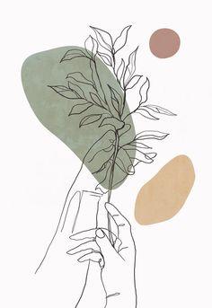 Outline Art, Cactus Wall Art, Abstract Line Art, Painting Abstract, Minimalist Art, Printable Wall Art, Art Drawings, Line Drawing Art, Illustrator