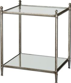 glass end table as night stand